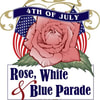 ROSE, WHITE AND BLUE
